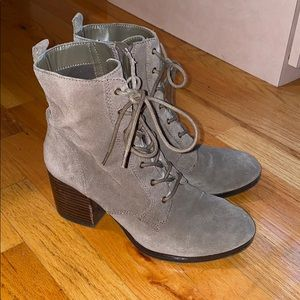 Nine West suede leather lace up bootie